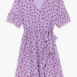Good to Grow Floral Wrap Mini Dress   NastyGal (US & CA)
