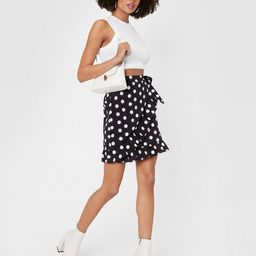 Polka Dot It Going On Ruffle Mini Skirt | NastyGal (US & CA)
