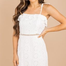 Give It Your All White Eyelet Dress | The Mint Julep Boutique