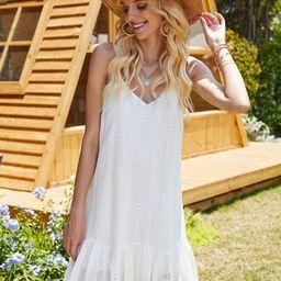 Ruffle Hem Schiffy Cami Dress | SHEIN