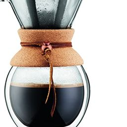 BODUM Pour Over Coffee Maker Grip, 8 Cup, 34 Ounce, Double Wall Cork   Amazon (US)