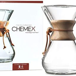 CHEMEX Pour-Over Glass Coffeemaker - Classic Series - 8-Cup - Exclusive Packaging   Amazon (US)