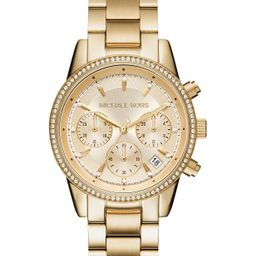 Women's Chronograph Ritz Stainless Steel Bracelet Watch 37mm MK6428/MK6357/MK6356 | Macys (US)