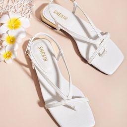Toe Post Thin Strap Sandals | SHEIN