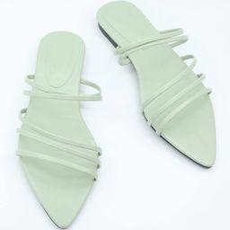 Open Toe Strappy Slide Sandals | SHEIN