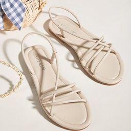 Thin Strap Slingback Sandals | SHEIN