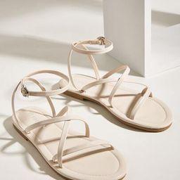 Open Toe Cross Ankle Strap Sandals | SHEIN