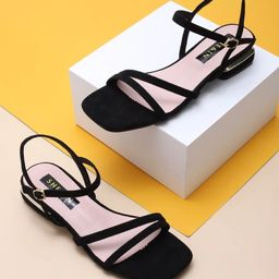 Open Toe Ankle Strap Sandals | SHEIN