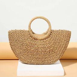 Woven Design Tote Bag | SHEIN