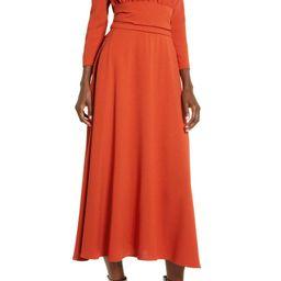 Three Quarter Sleeve Midi Dress   Nordstrom