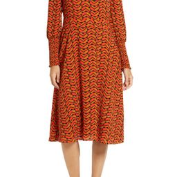 Halogen® Tie Back Long Sleeve Dress (Regular & Petite)   Nordstrom   Nordstrom