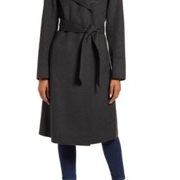 Shawl Collar Wool Blend Wrap Coat | Nordstrom