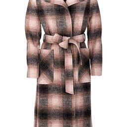 Aurora Plaid Wool Blend Wrap Coat | Nordstrom