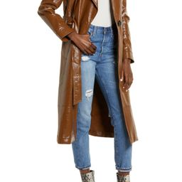 Faux Patent Leather Trench Coat | Nordstrom