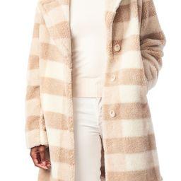 Check Teddy Faux Fur Coat   Nordstrom