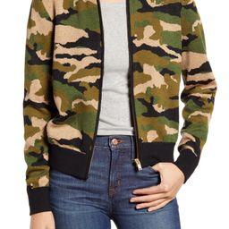 Camo Bomber Sweater Jacket | Nordstrom