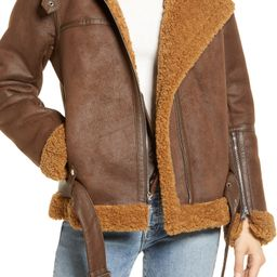 Faux Shearling Moto Jacket | Nordstrom