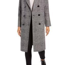 Houndstooth Wool Blend Coat | Nordstrom