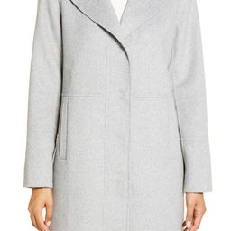 Double Face Wool Blend Coat with Removable Faux Fur Collar   Nordstrom
