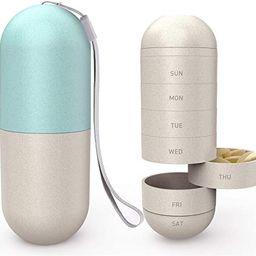 Zannaki Upgrade Enlarge Grain Fiber Moisture Proof Weekly Pill Organizer, BPA Free Travel Camping... | Amazon (US)