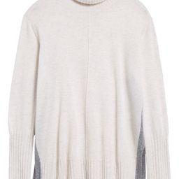 Wool & Cashmere Colorblock Turtleneck Sweater   Nordstrom