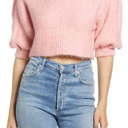 Crop Balloon Sleeve Sweater | Nordstrom