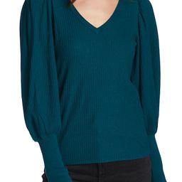 Blouson Sleeve Textured Sweater | Nordstrom