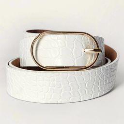 Oval Buckle Belt   SHEIN