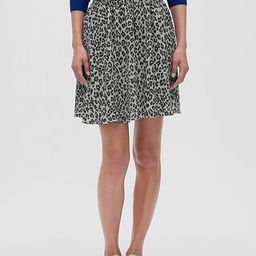Animal Print Pleated Fit and Flare Skirt | Banana Republic Factory