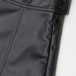 Faux Leather Skirt   H&M (US)