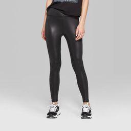Women's High-Rise Liquid Leggings - Wild Fable™ Black   Target