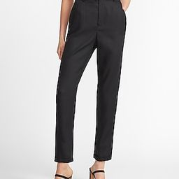 Super High Waisted Tapered Leg Twill Pant Black Women's M | Express