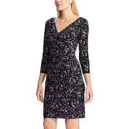 Women's Chaps Floral Faux-Wrap Dress, Size: XS, Black | Kohl's