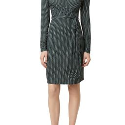 Women's French Connection Cosimo Meadow Floral & Dot Long Sleeve Faux Wrap Dress, Size 12 - Green | Nordstrom