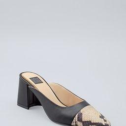 Embossed Leather Mule Heels   White House Black Market