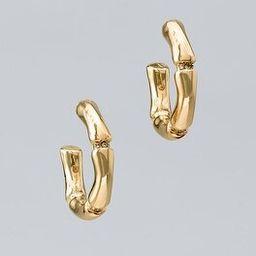 Bamboo Hoop Earrings   White House Black Market