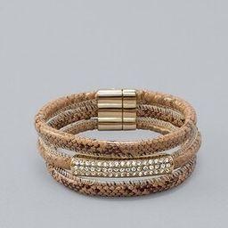 Pavé Snakeskin-Embossed Magnetic Bracelet   White House Black Market