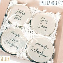 FALL CANDLE SET, Best Friend Birthday Gift, Personalized gifts, Eco friendly hostess fall gift, f... | Etsy (US)
