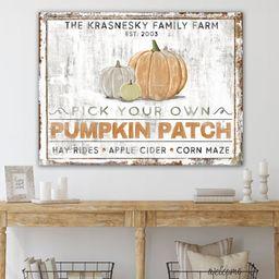 Pumpkin Patch Rustic Fall Sign, Modern Farmhouse Wall Decor, Primitive Country Autumn Farm Decor,... | Etsy (US)