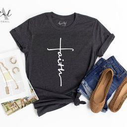 Faith T-shirt, Jesus, Christian Shirt, Faith Shirt, Vertical Cross, Cross, Faith Cross, Religious... | Etsy (US)