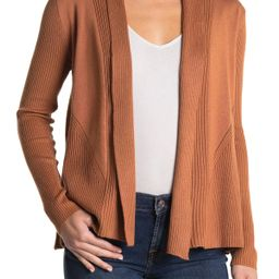 M Magaschoni Ribbed Shawl Collar Open Front Cardigan at Nordstrom Rack | Hautelook