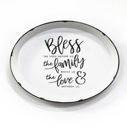 Bless, Family, Love Round Metal Wall Plaque | Kirkland's Home