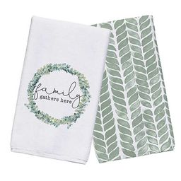 Family Gathers Here Kitchen Towels, Set of 2 | Kirkland's Home