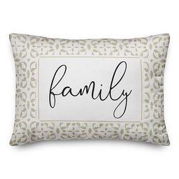 Khaki Geometric Dot Family Outdoor Pillow | Kirkland's Home