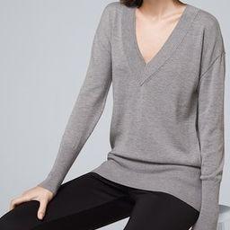 Cozy Knit V-Neck Pullover | White House Black Market