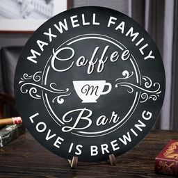 Love Is Brewing Personalized Coffee Bar Sign  Custom Gift for | Etsy | Etsy (US)