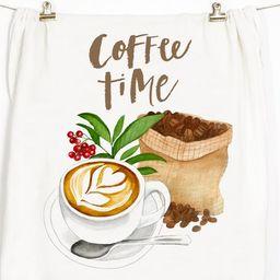 Coffee Tea Towel Flour Sack Towel Coffee Lover | Etsy | Etsy (US)