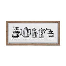 Metal Coffee Framed Wall Plaque | Kirkland's Home