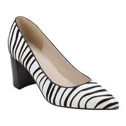 Marc Fisher Women's Pumps WHMPO - White & Black Zebra Claire Haircalf Pump - Women   Zulily