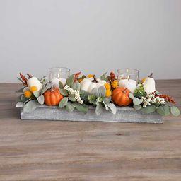 Pumpkin and Lambs Ear Mix Crate Centerpiece | Kirkland's Home